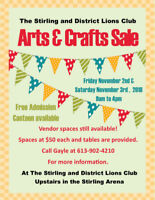 Arts and Craft Sale - Vendor Wanted