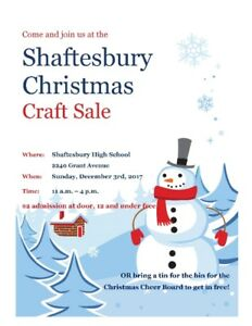 2nd annual Shaftesbury Christmas Craft Sale