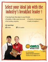 CORA BREAKFAST AND LUNCH SEEKING KITCHEN POSITIONS