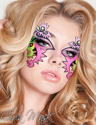 Xotic Eyes Neon Mardi Gras Face Mask Glitter Reusable Sparkle Party Eye Makeup