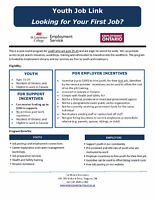 Youth - Are You Looking For Your First Paid Job?