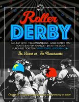 709 Roller Derby presents Game 3: The Vixens vs. The Neversweets