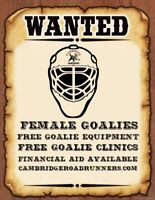 Female House League/DS Goalies Wanted