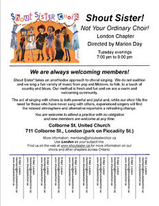 Shout Sister Choir London Chapter is Welcoming New Members! London Ontario image 1