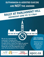 ***Ottawa rally-Euthanasia and Assisted Suicide***