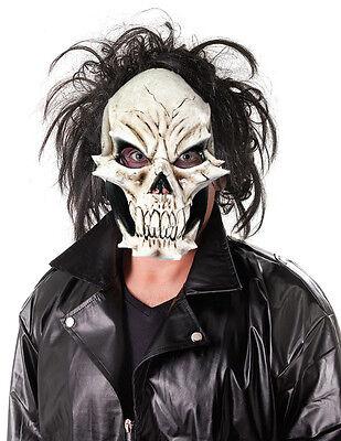 Scary Skull Face Mask Devil Mens Latex Horror Fancy Dress Halloween Maske NEW