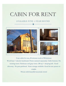 Cozy cabin located 30 mins north of Whitehorse