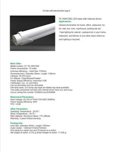 LED T8 18w Internal Driver Tubes- Replace T12 and T8 Flourescent