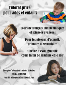 Tutorat privé, private tutoring