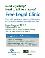 Free Legal Advice offered at one day clinic in Lloydminster