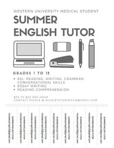 English Tutoring from Medical Student