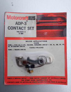 motorcraft contact point ADP-3 Ford Xp Xm XL Xr Falcon Fairlane South Melbourne Port Phillip Preview