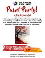 PAINT PARTY@Keystorm Pub Brockville Public Library fundraiser