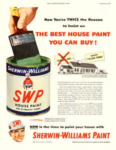 1952 full-page vintage magazine ad for Sherwin-Williams Paint