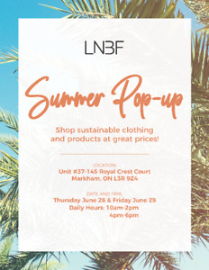 LNBF Summer Pop-Up Clothing Sale Event!!!