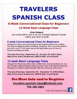 TRAVELERS SPANISH CLASS - Two Courses Available