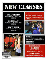 Offering Cardio, Core, and Booty Classes