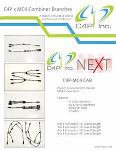 MC4 branch connectors