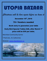 Utopia Bazaar - December 10th, 2016 EARLY BIRD SPECIAL