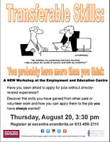 TWO great NEW employment workshops at EEC! Register today!
