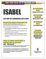 Isabel Bader Centre for the Performing Arts needs volunteers!