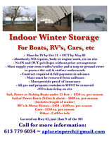 BOAT, CAR, RV...Winter Storage