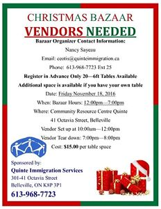 Vendors / Crafters / Artists / Creators Needed Belleville Belleville Area image 2