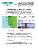 5-Day Pacific Coastal Cruise from Vancouver
