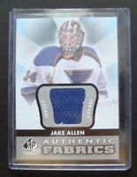 Jake Allen - SP Game Used - Authentic Fabrics