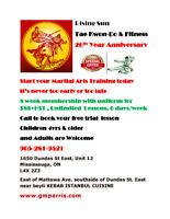 TAE KWON-DO LESSONS RISING SUN ANNIVERSARY OFFER