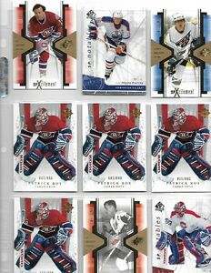 The best in hockey inserts,game used and auto cards.