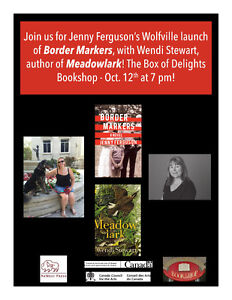 A Book Launch for Jenny Ferguson's BORDER MARKERS