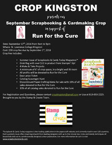 September Scrapbooking & Cardmaking Crop