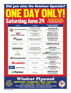 Deck Building & Knowledge Seminar  at Windsor Plywood Clareview