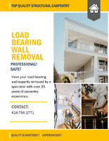 LOAD BEARING WALL REMOVAL ( 35 YEARS PROFESSIONAL EXPERIENCE )