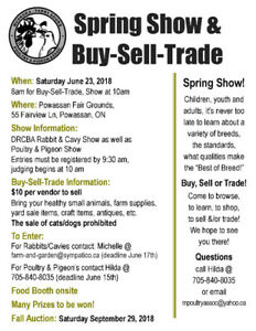 Spring Show with a Buy-Sell-Trade this Saturday