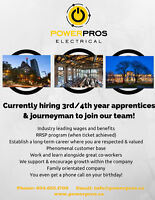 Electrical Journeyman & 3rd/4th year apprentices
