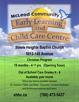 NEW Early Learning and Child Care program & OSC Northeast Edm