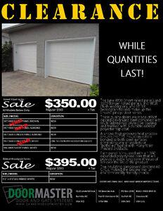 Garage Door Sale!! While Quantities Last!