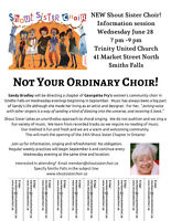 New Smiths Falls Shout Sister Choir Information Session