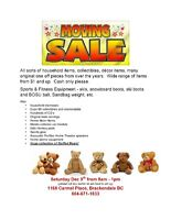 Moving Sale! Sports Equipment and Household Goods