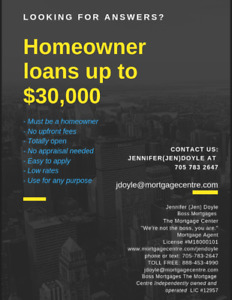 Easy Loans For Homeowners! $30,000 cash fast!