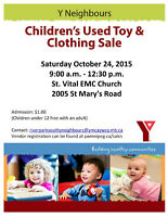 Y Neighbours River Park South Used Toy and Clothing Sale