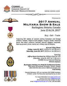 Canadian Society of Military Medals & Insignia Annual Show
