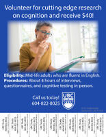Volunteer for Research - Participate with UBC Psychology!