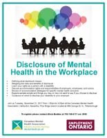 Disclosure of Mental Health in the Workplace