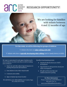 Research opportunity for 6-12 month babies and parents