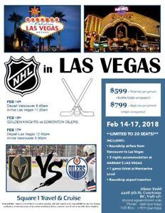 NHL in Vegas  Oilers vs Golden Knights 14-17Feb package