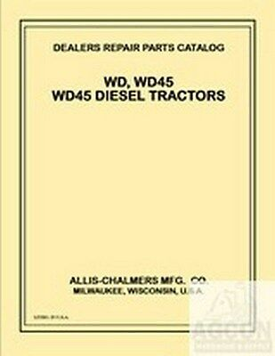 Allis Chalmers Wd-45 Wd45 Wd 45 Gas Diesel Tractor W226 Power Unit Parts Manual
