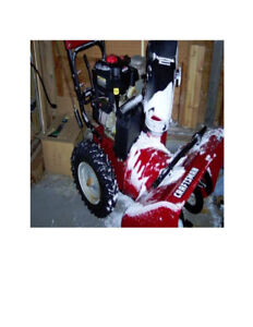 27'' Craftsman snow blower 8.5 hp electric starter